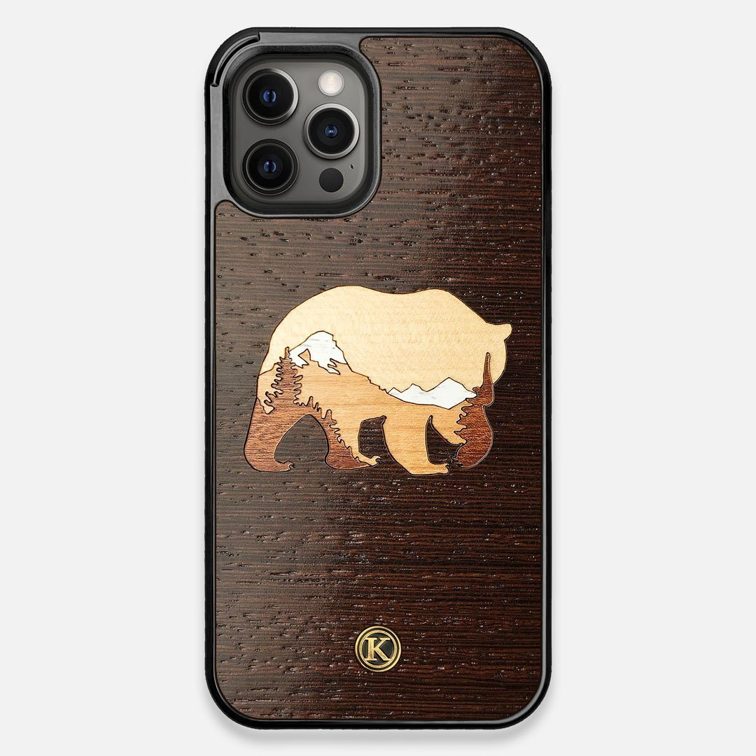 TPU/PC Sides of the Bear Mountain Wood iPhone 12 Pro Max Case by Keyway Designs