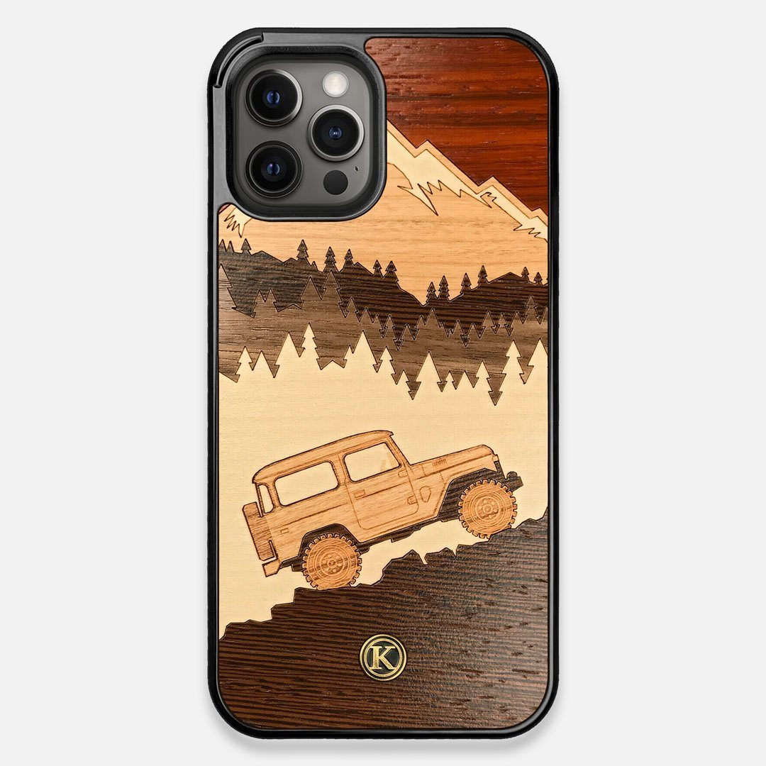 TPU/PC Sides of the Off-Road Wood iPhone 12 Pro Max Case by Keyway Designs