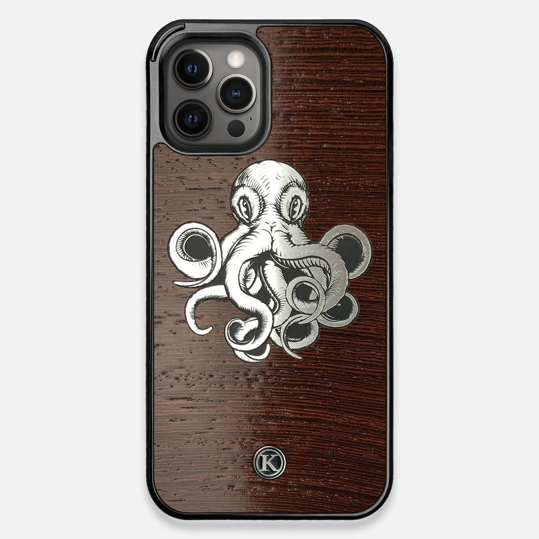 Front view of the Prize Kraken Wenge Wood iPhone 12 Pro Max Case by Keyway Designs