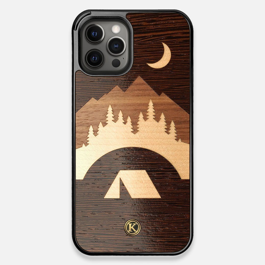 Front view of the Wilderness Wenge Wood iPhone 12 Pro Max Case by Keyway Designs