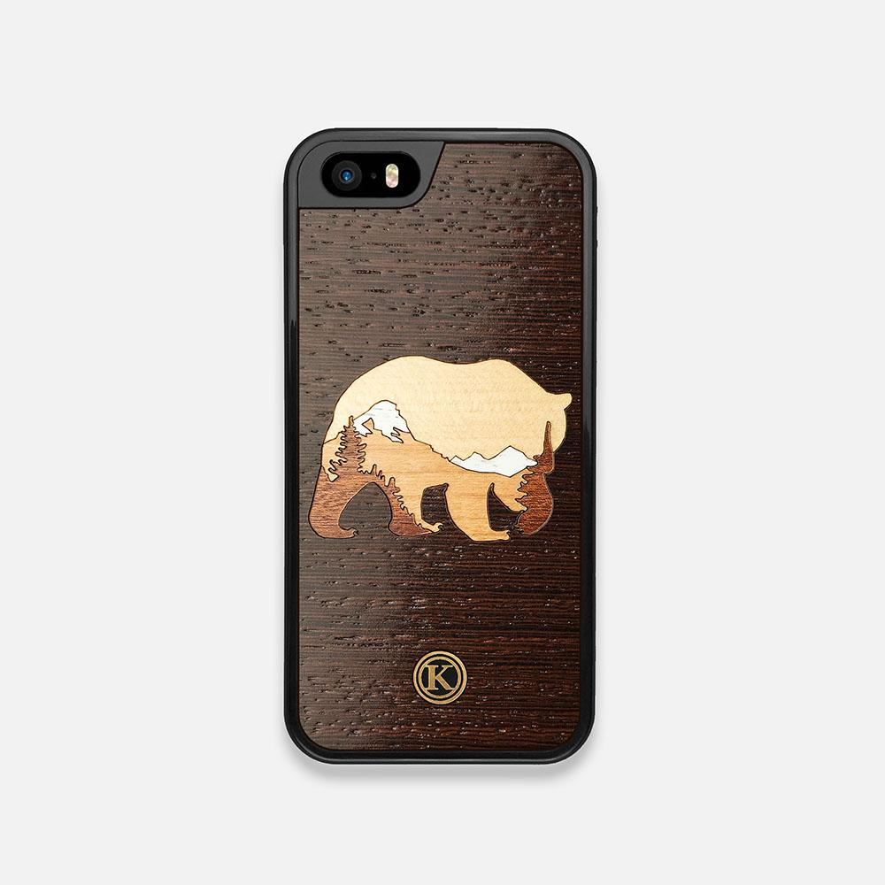 Front view of the Bear Mountain Wood iPhone 5 Case by Keyway Designs
