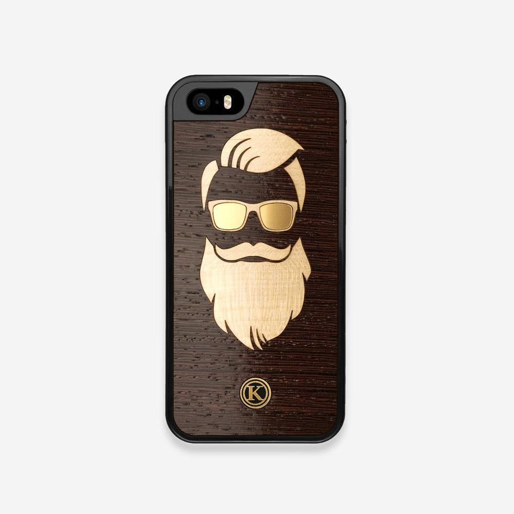 Front view of the The Blonde Beard Wenge Wood iPhone 5 Case by Keyway Designs