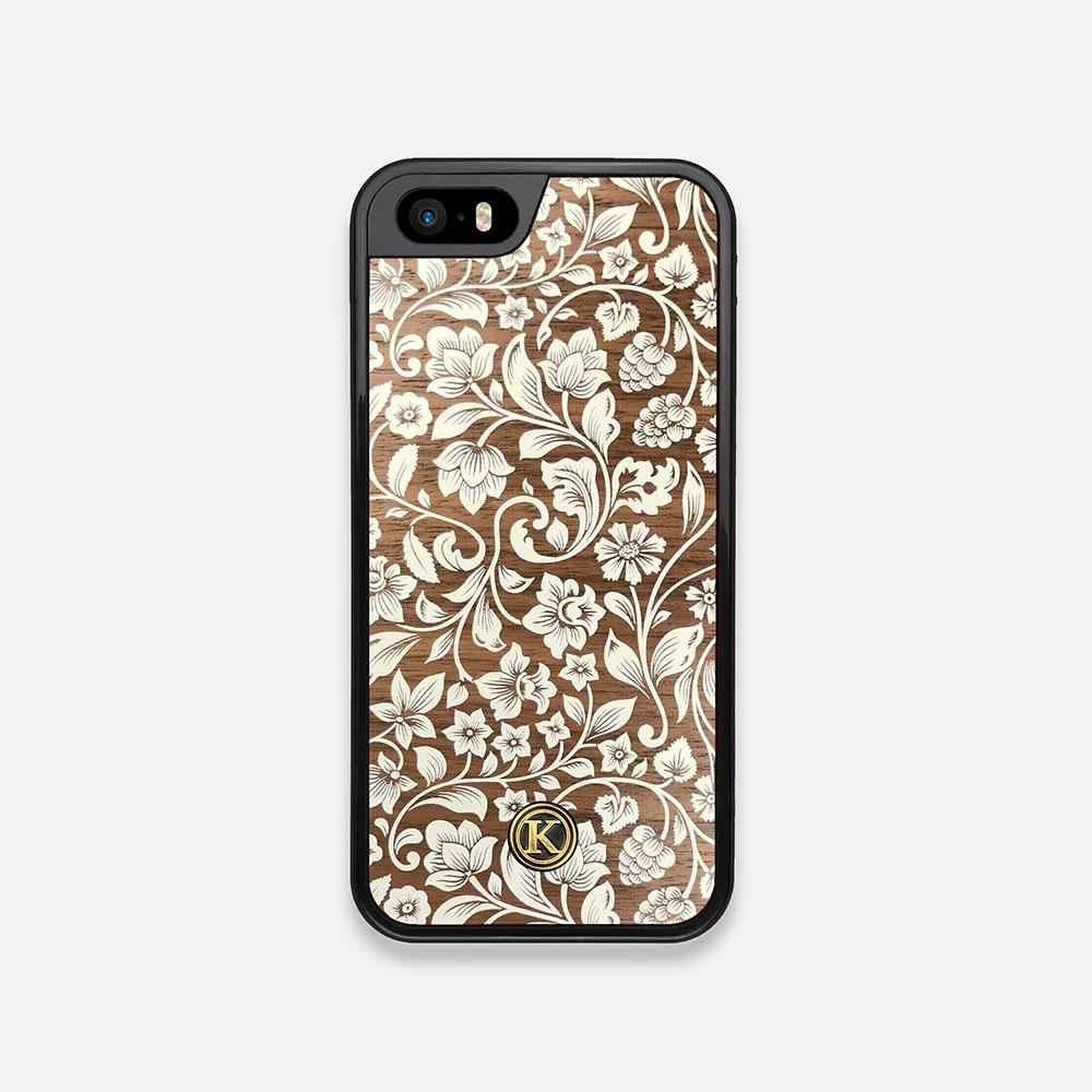 Front view of the Blossom Whitewash Wood iPhone 5 Case by Keyway Designs