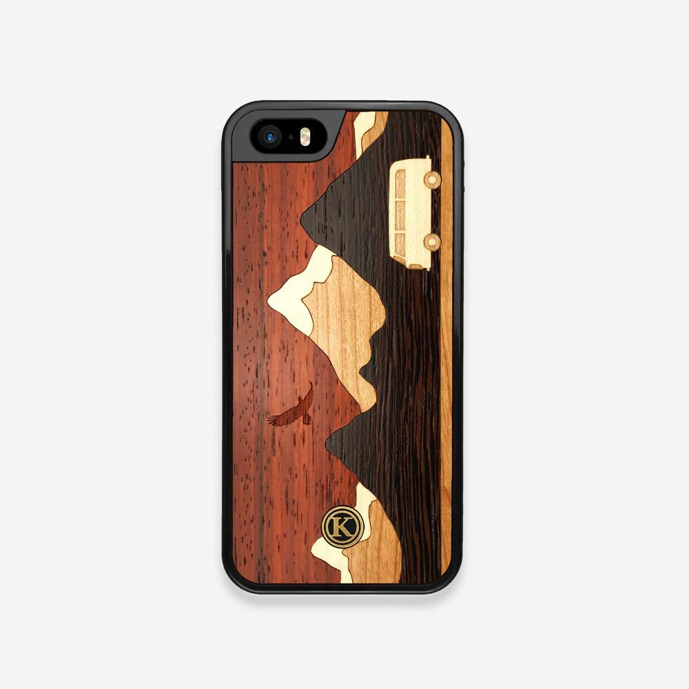 Front view of the Cross Country Wood iPhone 5 Case by Keyway Designs