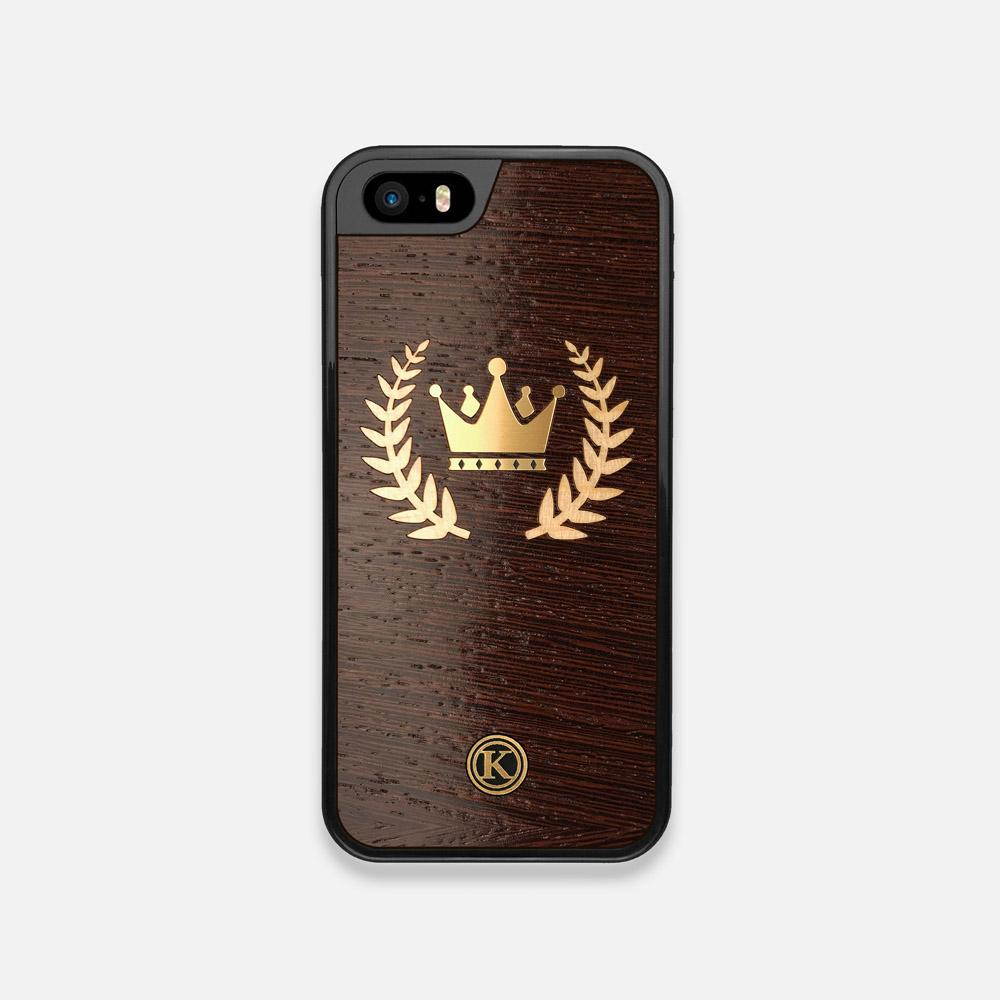 Front view of the Majesty Wenge Wood iPhone 5 Case by Keyway Designs