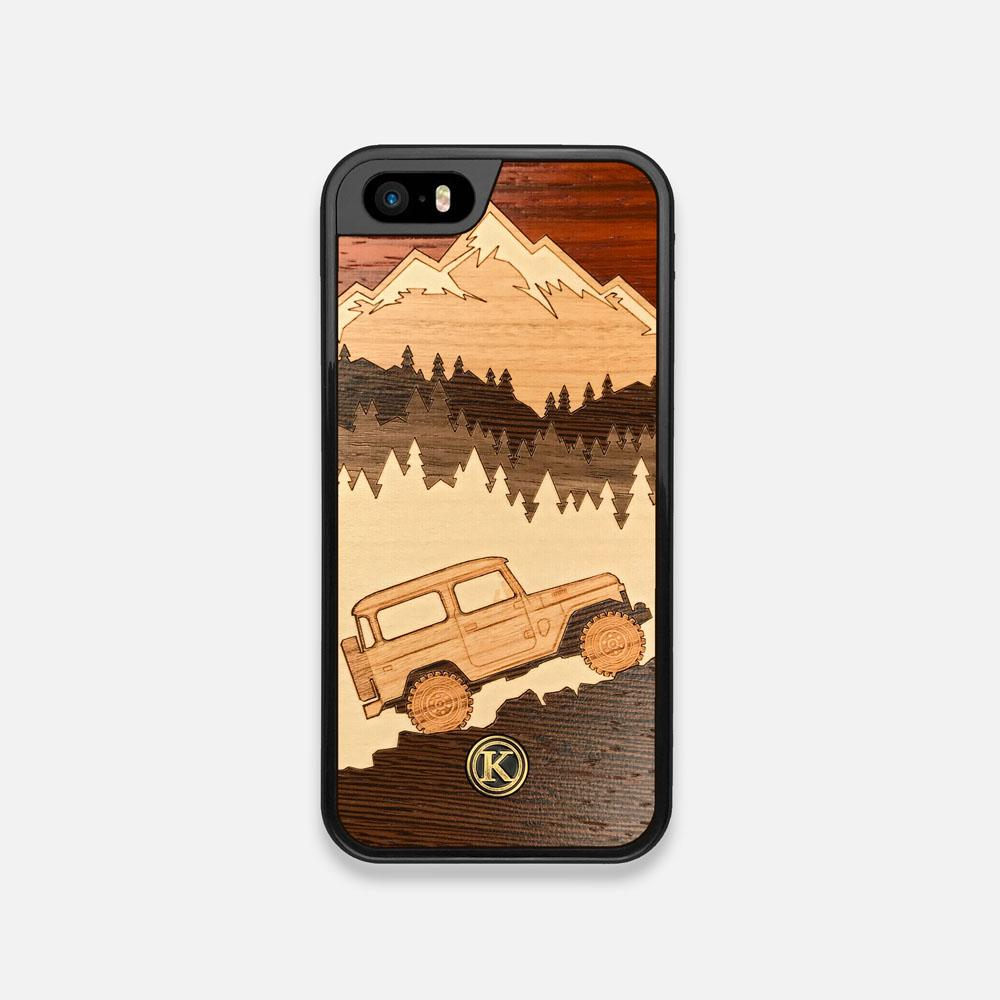 Front view of the Off-Road Wood iPhone 5 Case by Keyway Designs