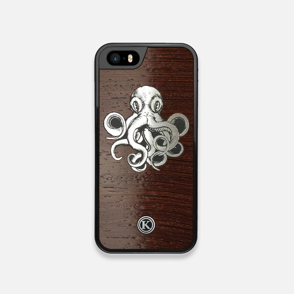 Front view of the Prize Kraken Wenge Wood iPhone 5 Case by Keyway Designs
