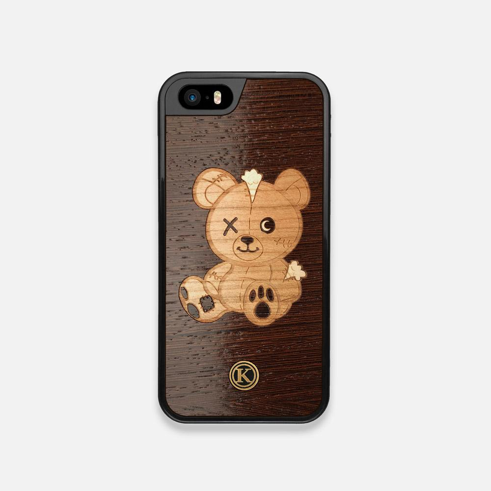 Front view of the Remo Special Edition Wenge Wood iPhone 5 Case by Keyway Designs