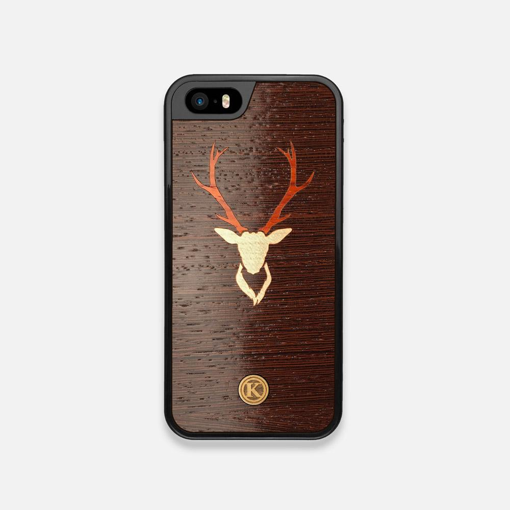Front view of the Stag Wenge Wood iPhone 5 Case by Keyway Designs