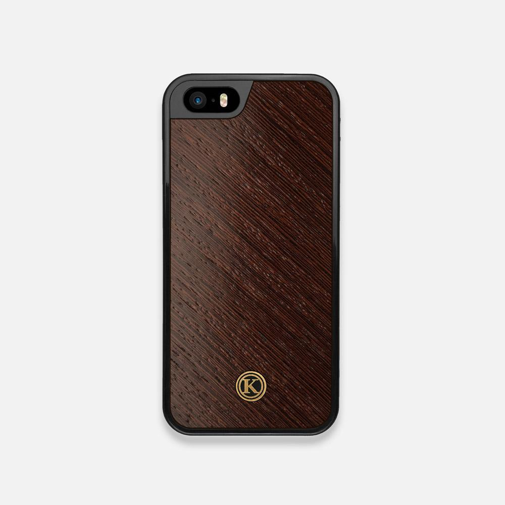 Front view of the Wenge Pure Minimalist Wood iPhone 5 Case by Keyway Designs