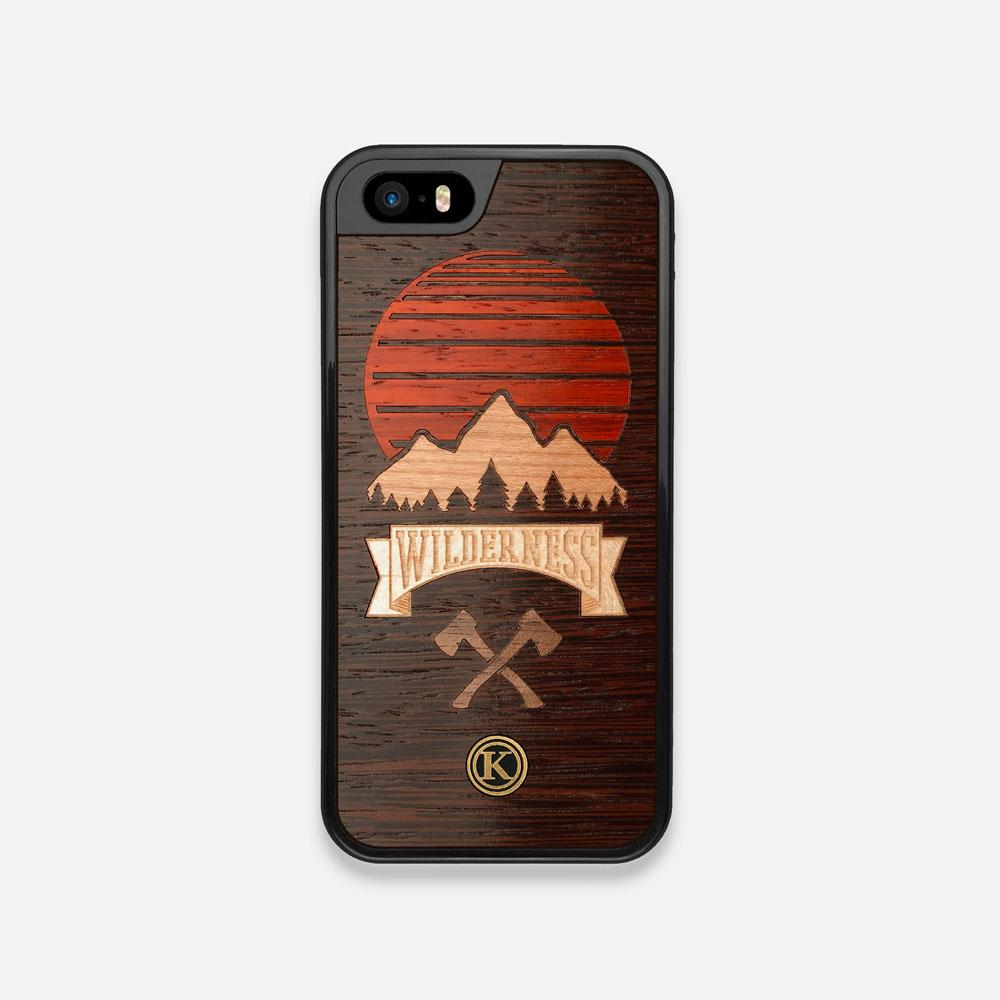 Front view of the Wilderness Wenge Wood iPhone 5 Case by Keyway Designs