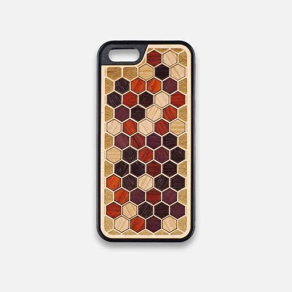 Front view of the Cellular Maple Wood iPhone 5 Case by Keyway Designs