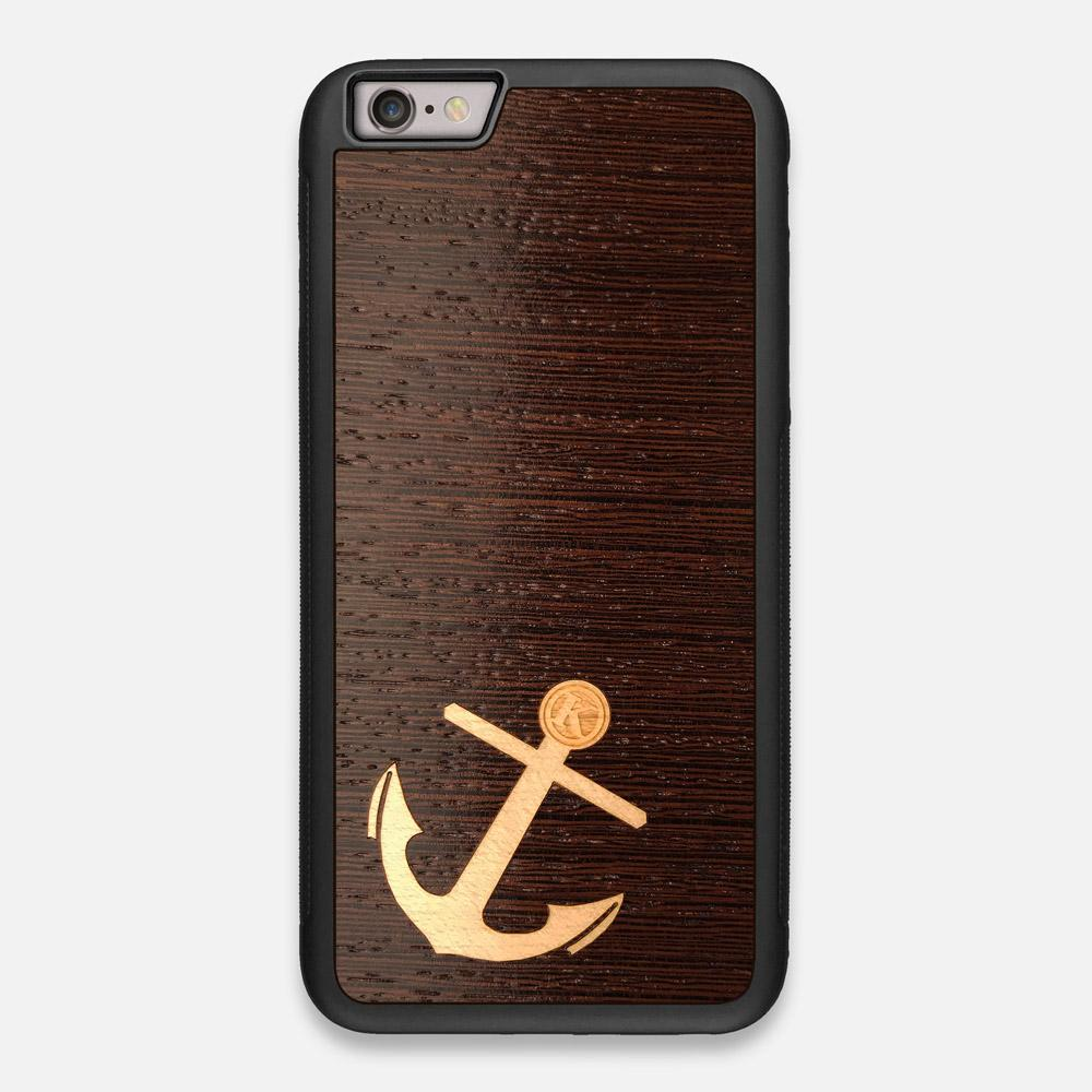 Front view of the Anchor Wenge Wood iPhone 6 Plus Case by Keyway Designs