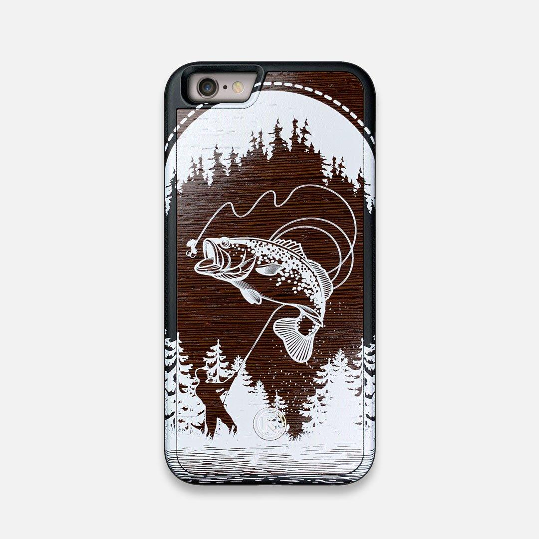 Front view of the high-contrast spotted bass printed Wenge Wood iPhone 6 Case by Keyway Designs