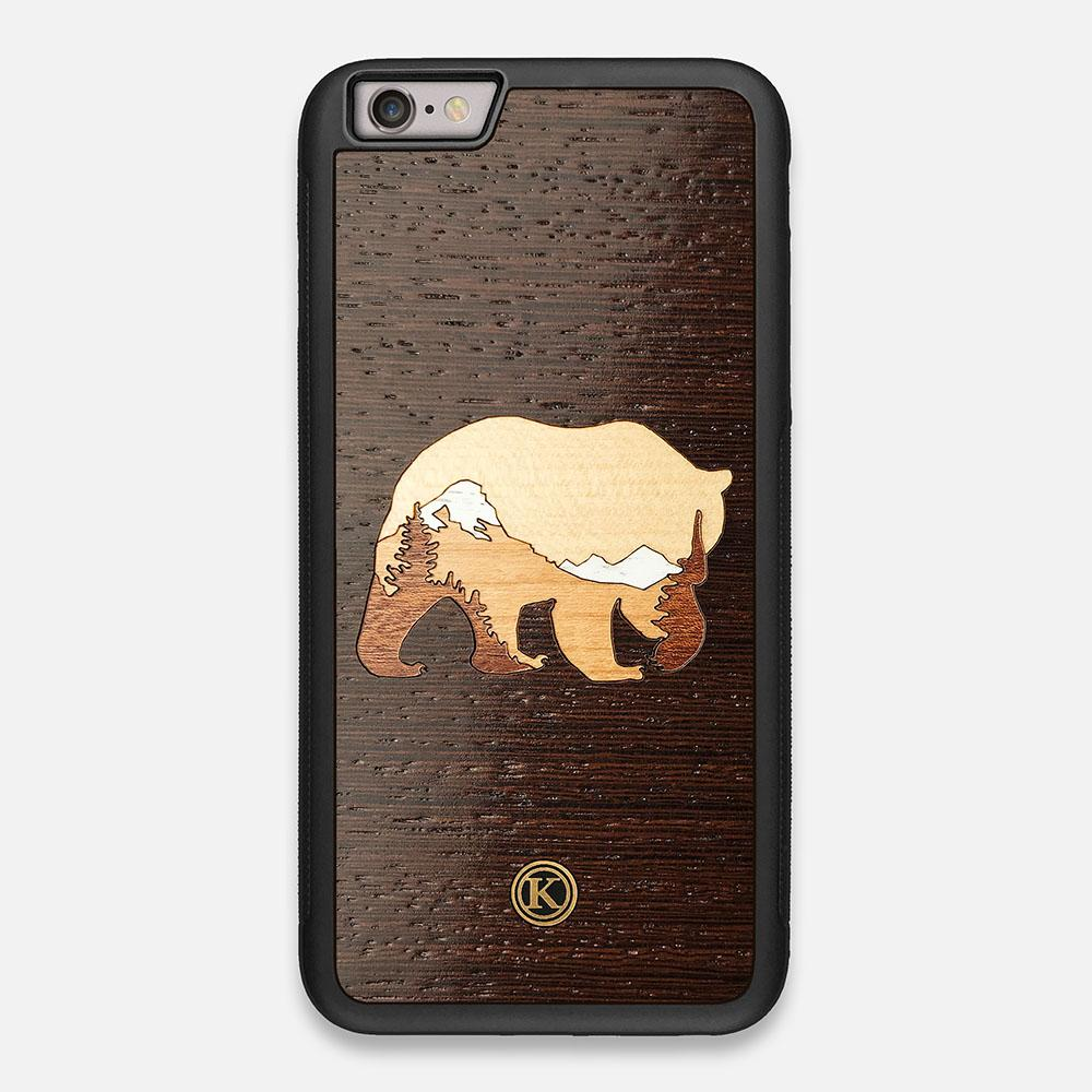 TPU/PC Sides of the Bear Mountain Wood iPhone 6 Plus Case by Keyway Designs
