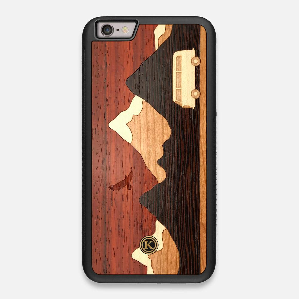 TPU/PC Sides of the Cross Country Wood iPhone 6 Plus Case by Keyway Designs