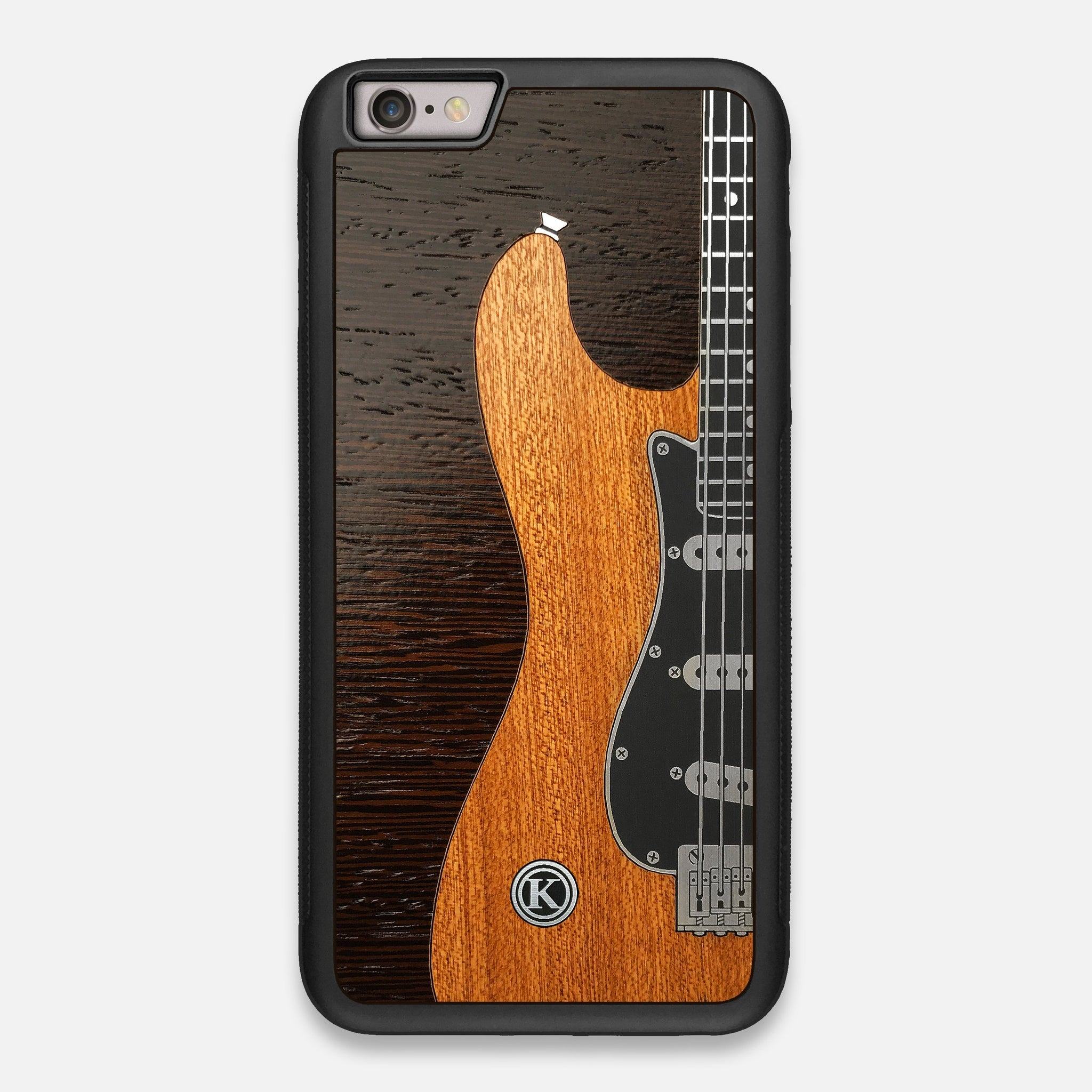 TPU/PC Sides of the Reverb Guitar Wood and Metallic  iPhone 6 Plus Case by Keyway Designs