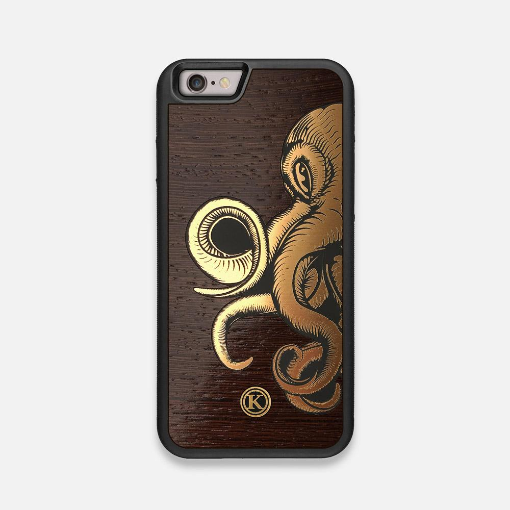 Front view of the Kraken 2.0 Wenge Wood iPhone 6 Case by Keyway Designs