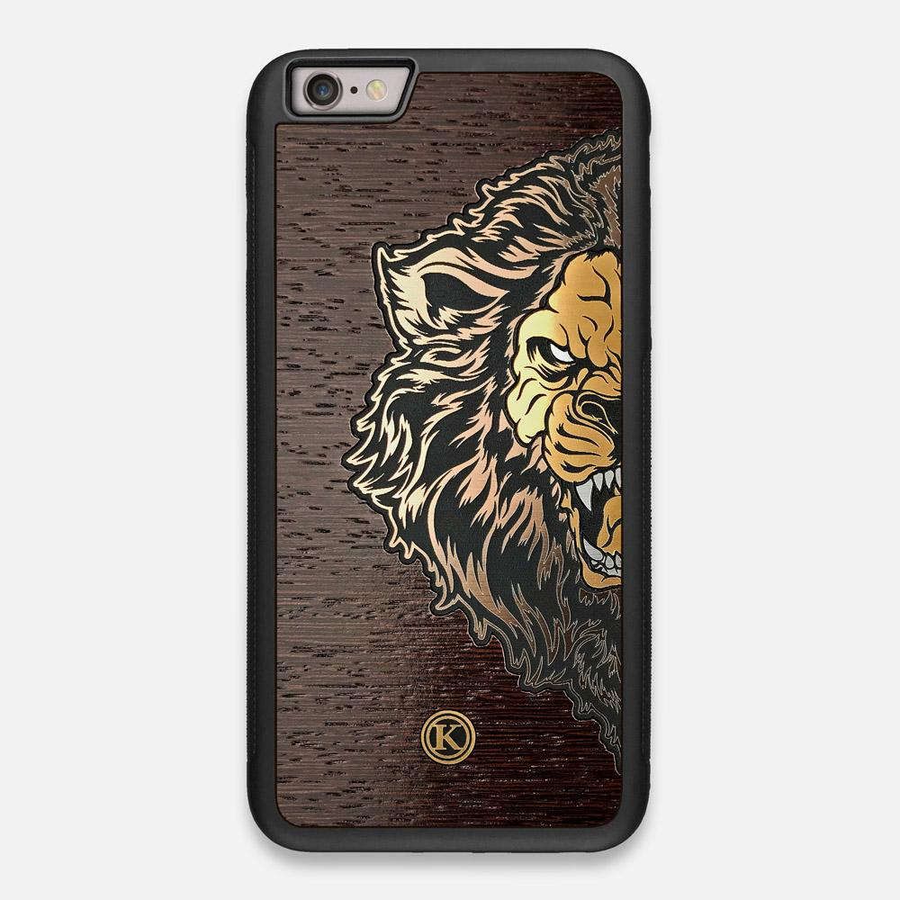 Front view of the Leon By Orozco Design Wenge Wood iPhone 6 Plus Case by Keyway Designs