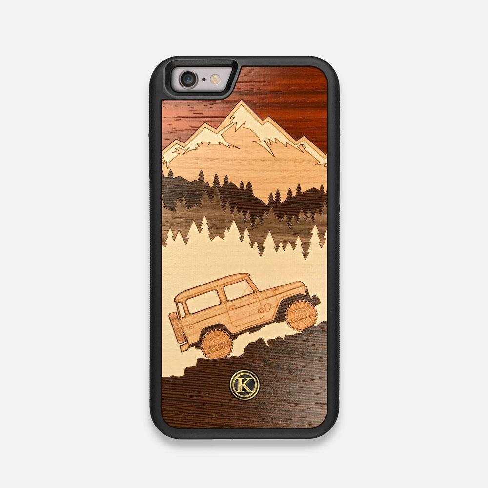 Front view of the Off-Road Wood iPhone 6 Case by Keyway Designs