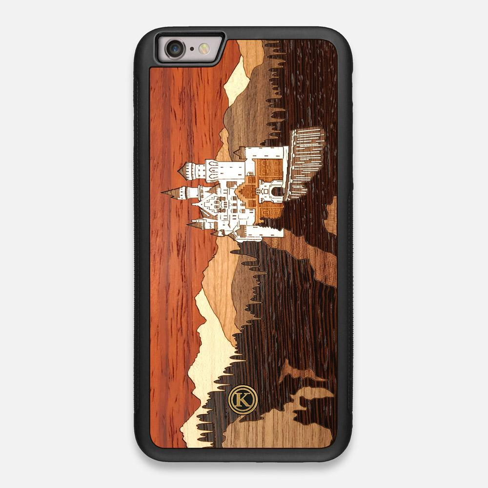 Front view of the Ramparts Unique Wood iPhone 6 Plus Case by Keyway Designs
