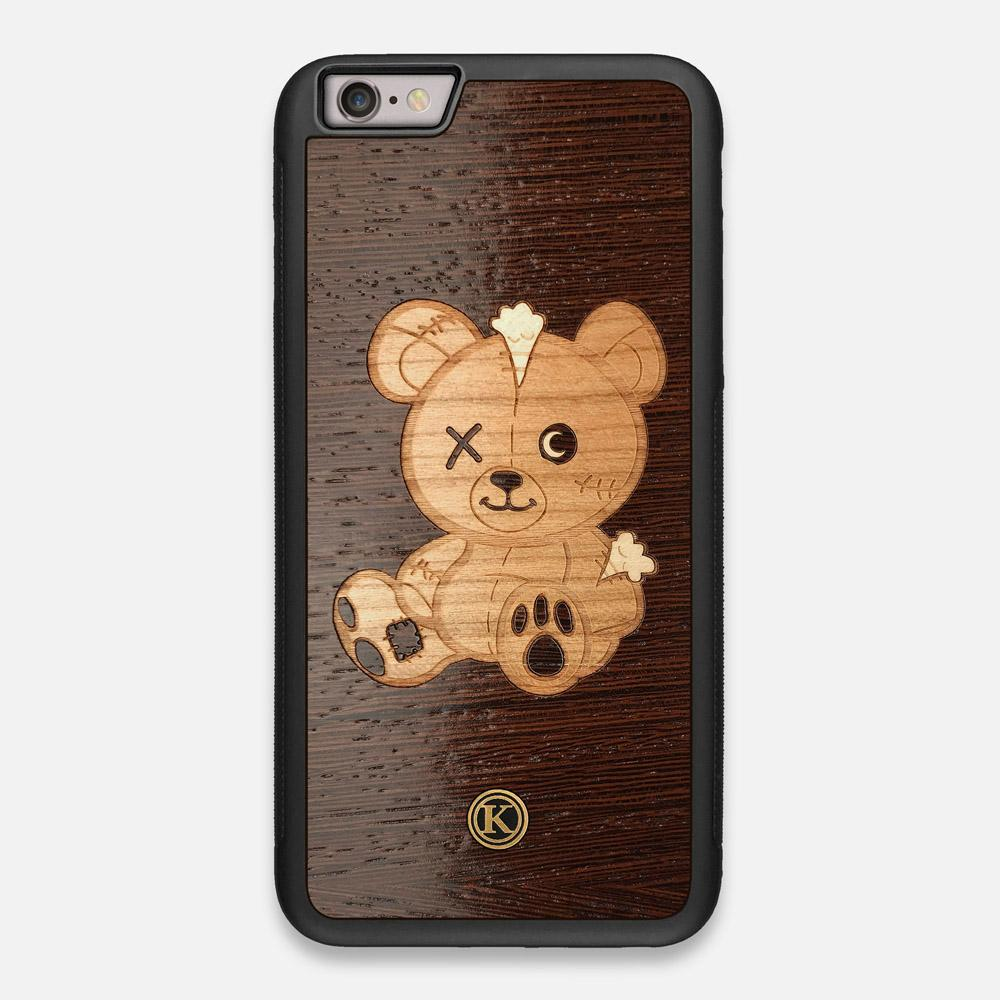 Front view of the Remo Special Edition Wenge Wood iPhone 6 Plus Case by Keyway Designs