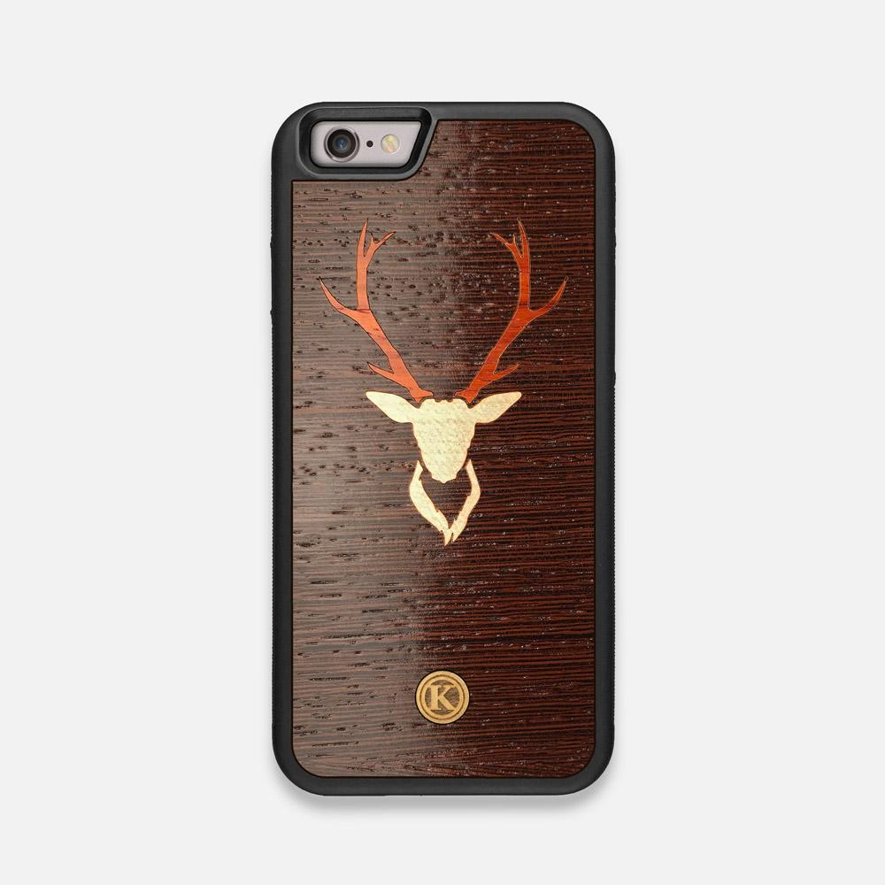 Front view of the Stag Wenge Wood iPhone 6 Case by Keyway Designs