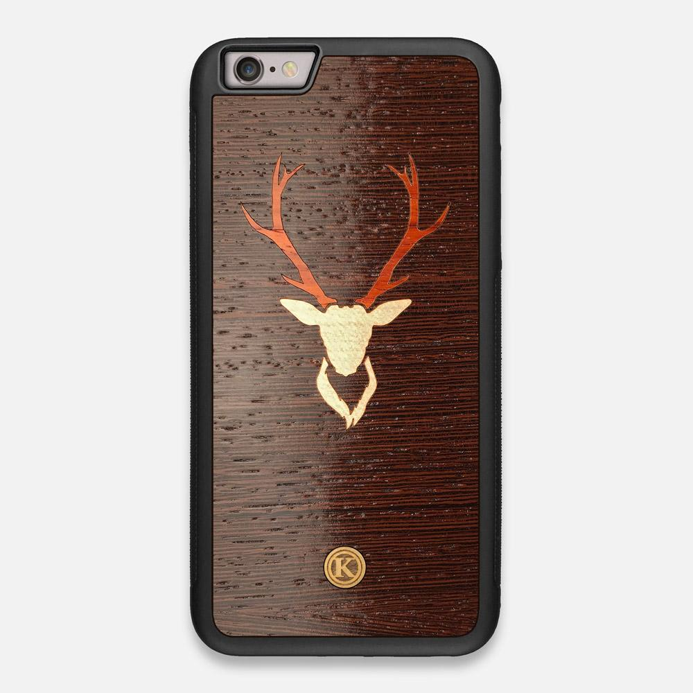 Front view of the Stag Wenge Wood iPhone 6 Plus Case by Keyway Designs