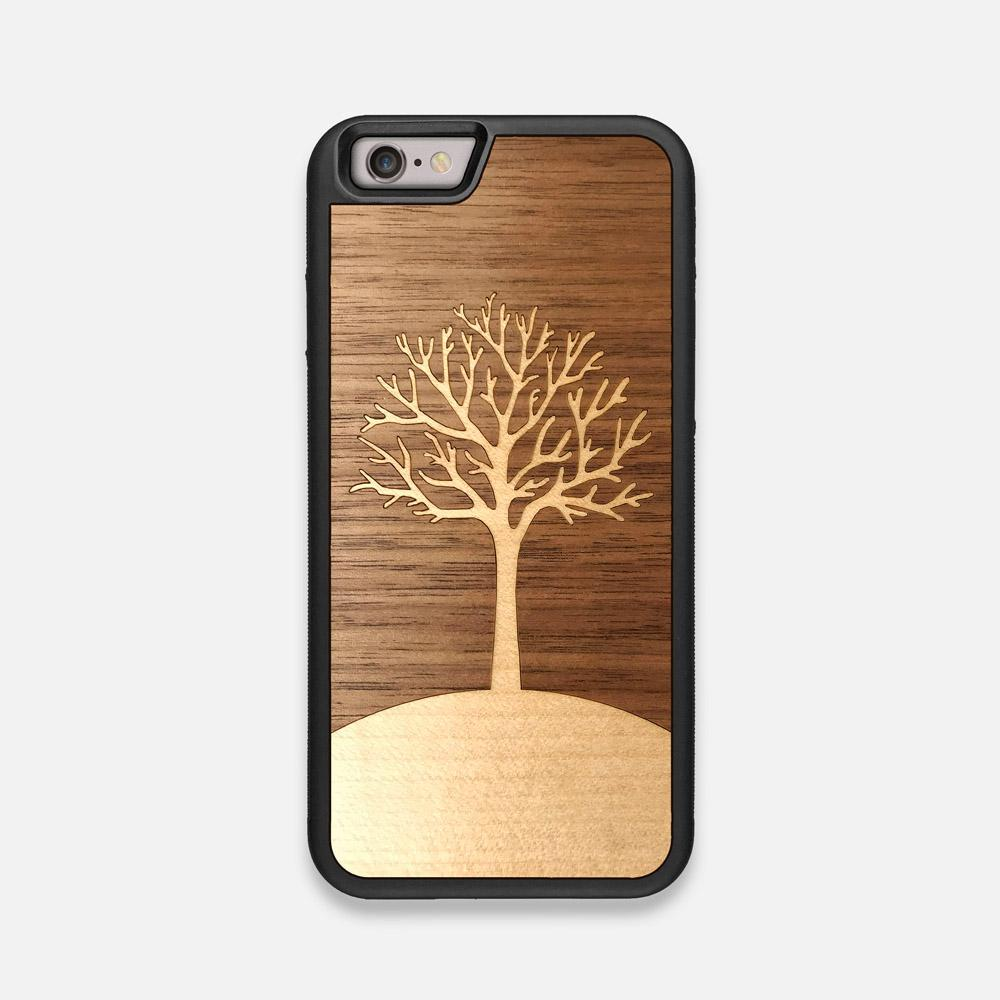 Front view of the Tree Of Life Walnut Wood iPhone 6 Case by Keyway Designs