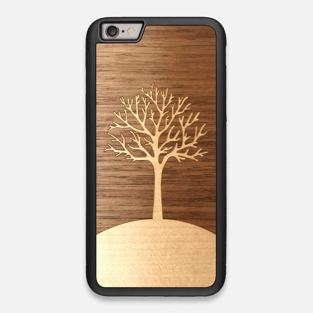 Front view of the Tree Of Life Walnut Wood iPhone 6 Plus Case by Keyway Designs