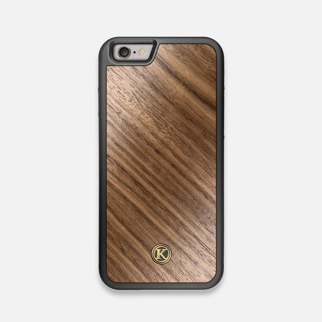 Front view of the Walnut Pure Minimalist Wood iPhone 6 Case by Keyway Designs
