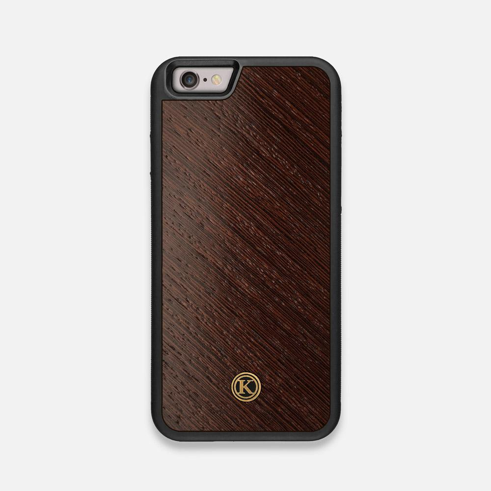 Front view of the Wenge Pure Minimalist Wood iPhone 6 Case by Keyway Designs