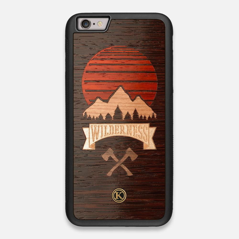 Front view of the Wilderness Wenge Wood iPhone 6 Plus Case by Keyway Designs