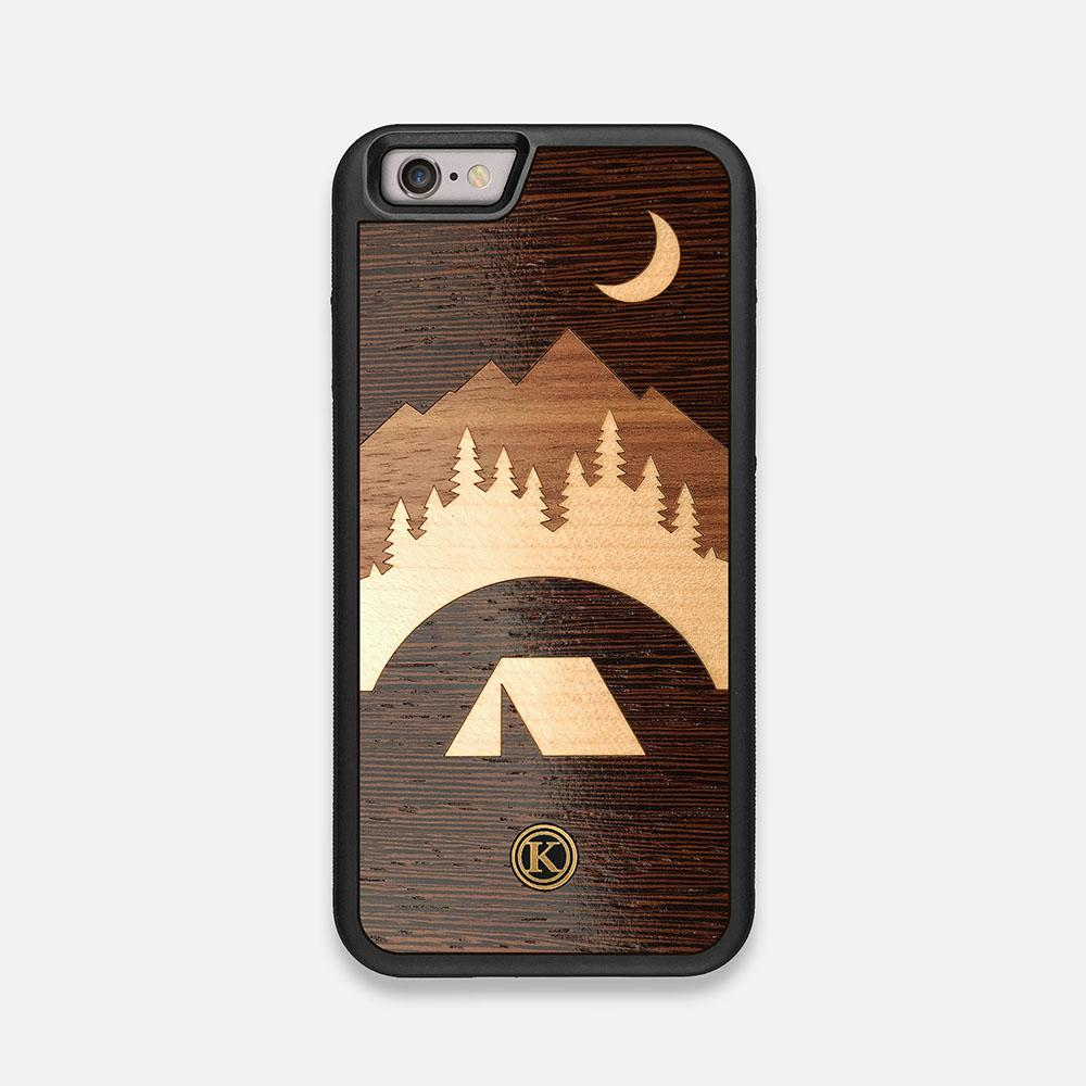 Front view of the Woodland Wenge Wood iPhone 6 Case by Keyway Designs