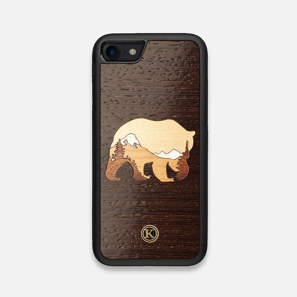 Front view of the Bear Mountain Wood iPhone 7/8 Case by Keyway Designs