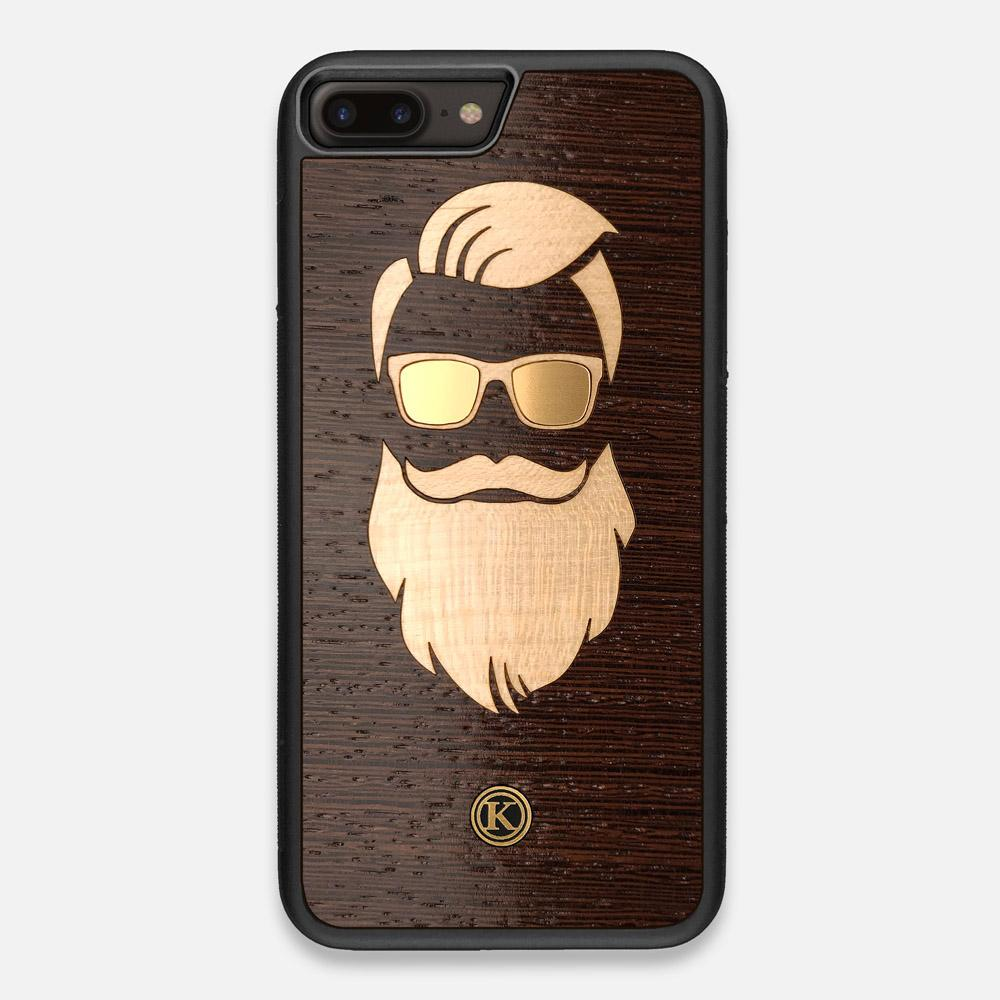 Front view of the The Blonde Beard Wenge Wood iPhone 7/8 Plus Case by Keyway Designs