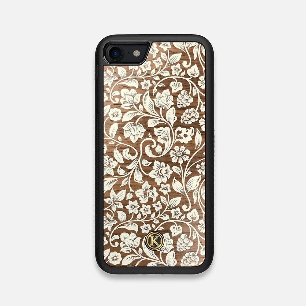 Front view of the Blossom Whitewash Wood iPhone 7/8 Case by Keyway Designs