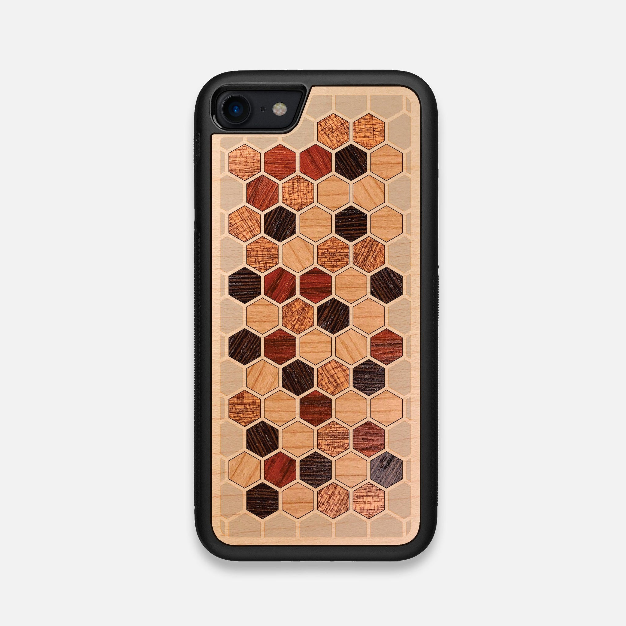 Front view of the Cellular Maple Wood iPhone 7/8 Case by Keyway Designs