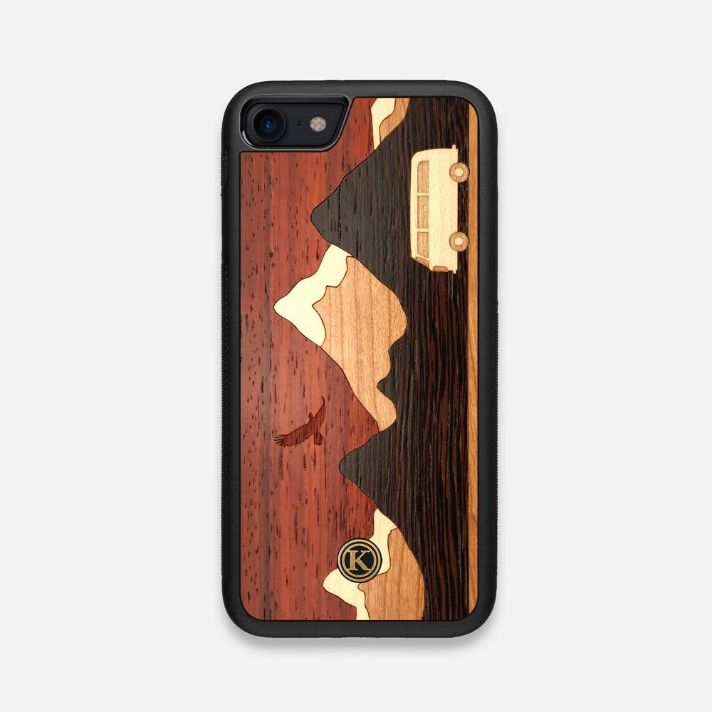 Front view of the Cross Country Wood iPhone 7/8 Case by Keyway Designs