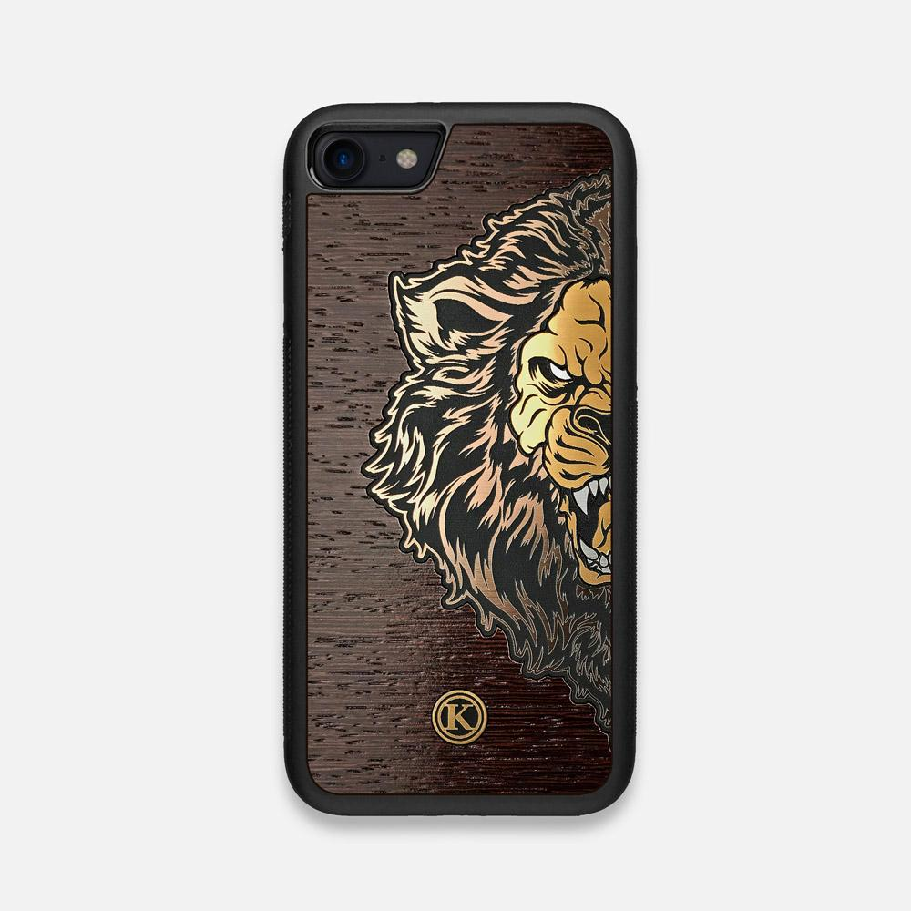Front view of the Leon By Orozco Design Wenge Wood iPhone 7/8 Case by Keyway Designs