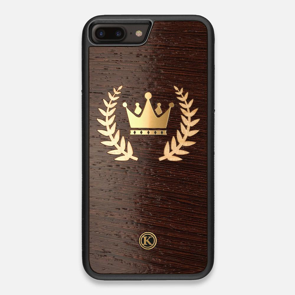 Front view of the Majesty Wenge Wood iPhone 7/8 Plus Case by Keyway Designs