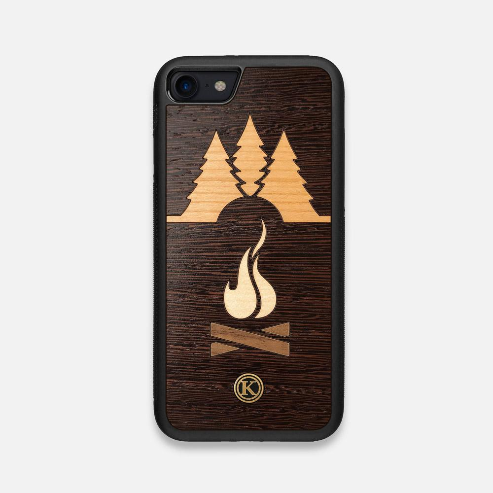 Front view of the Nomad Campsite Wood iPhone 7/8 Case by Keyway Designs