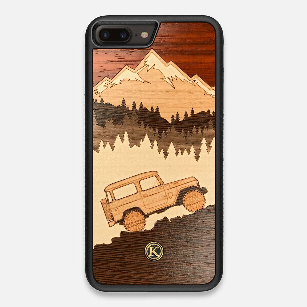 Front view of the Off-Road Wood iPhone 7/8 Plus Case by Keyway Designs