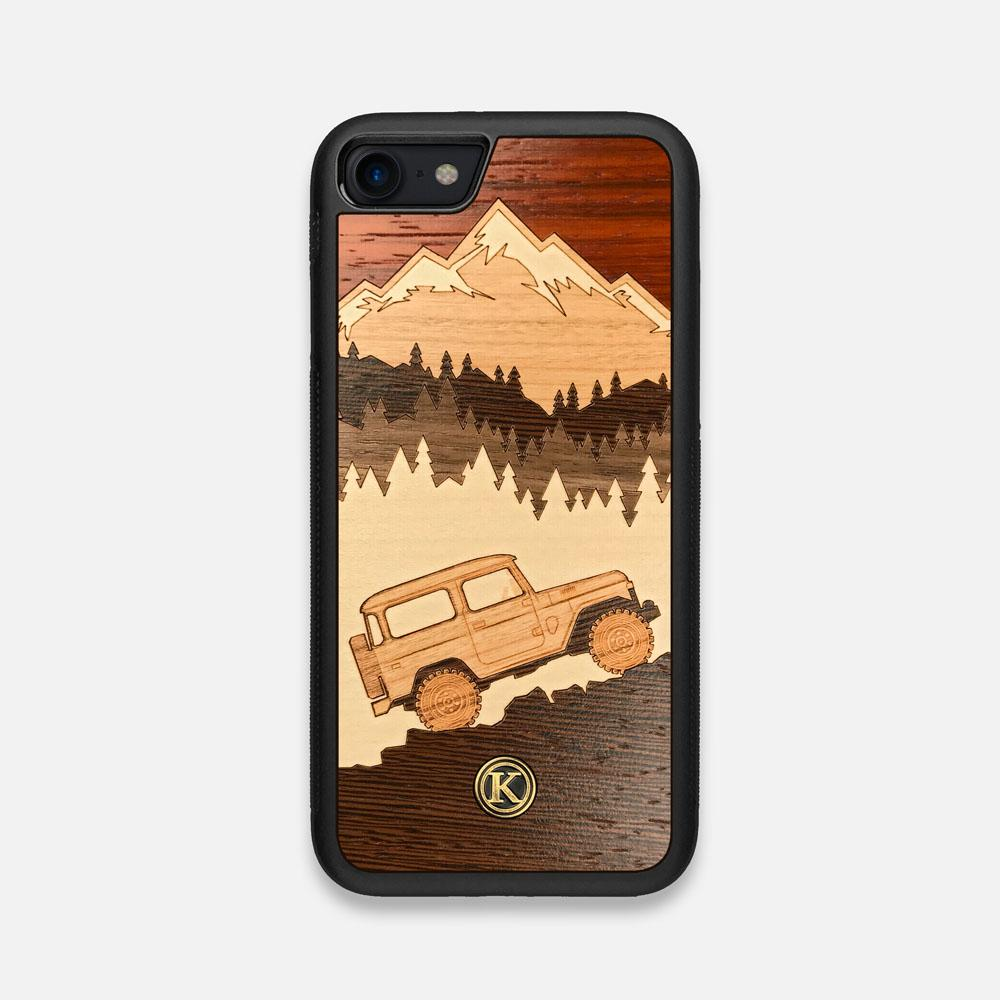Front view of the Off-Road Wood iPhone 7/8 Case by Keyway Designs