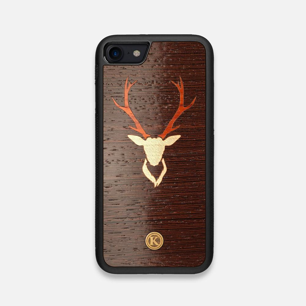 Front view of the Stag Wenge Wood iPhone 7/8 Case by Keyway Designs