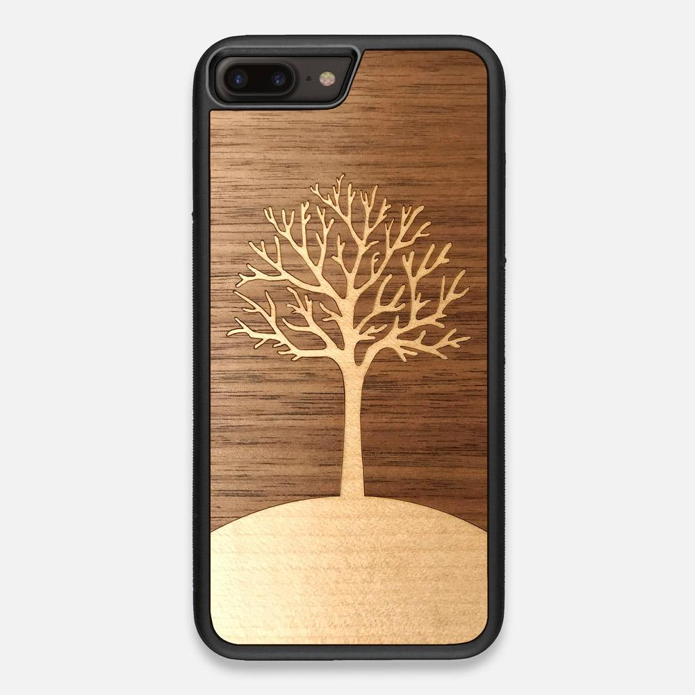 Front view of the Tree Of Life Walnut Wood iPhone 7/8 Plus Case by Keyway Designs