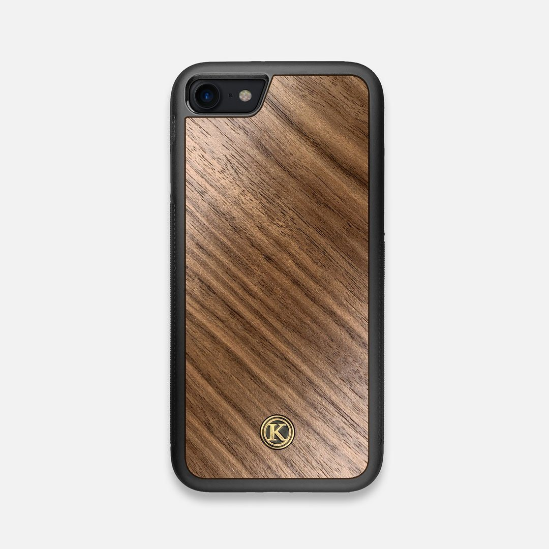 Front view of the Walnut Pure Minimalist Wood iPhone 7/8 Case by Keyway Designs