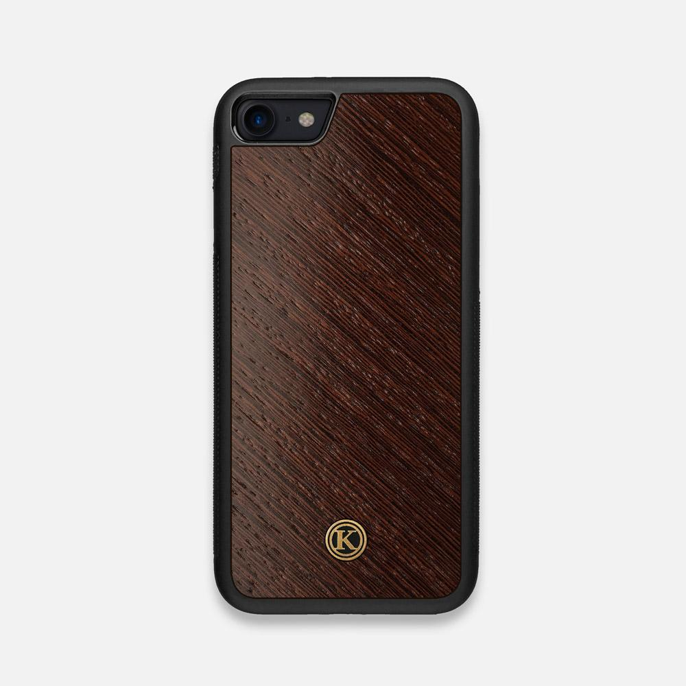 Front view of the Wenge Pure Minimalist Wood iPhone 7/8 Case by Keyway Designs