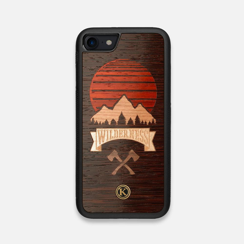 Front view of the Wilderness Wenge Wood iPhone 7/8 Case by Keyway Designs