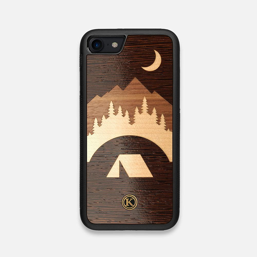 Front view of the Woodland Wenge Wood iPhone 7/8 Case by Keyway Designs